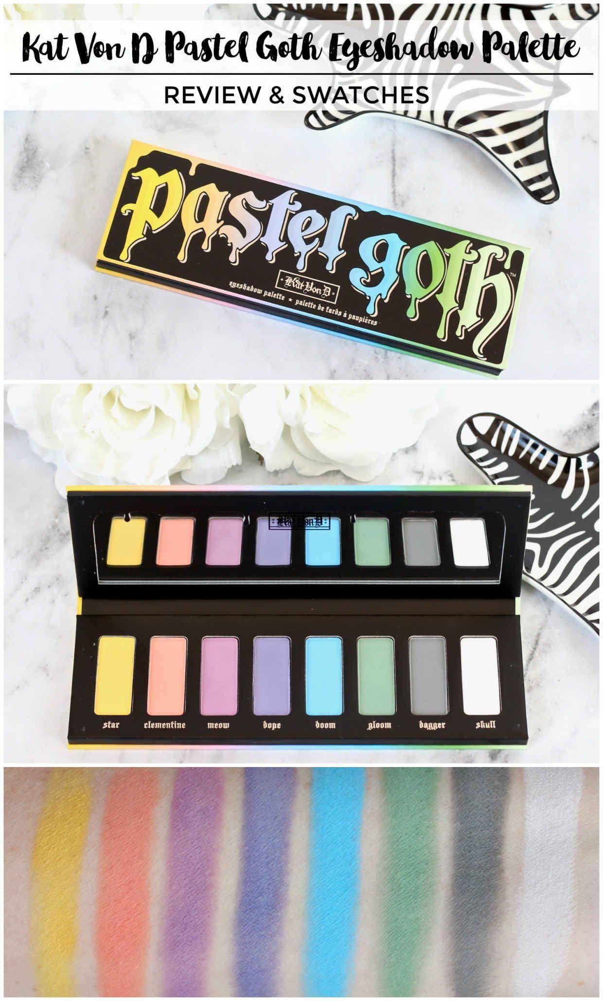 Kat Von D Pastel Goth Eyeshadow Palette Review & Swatches