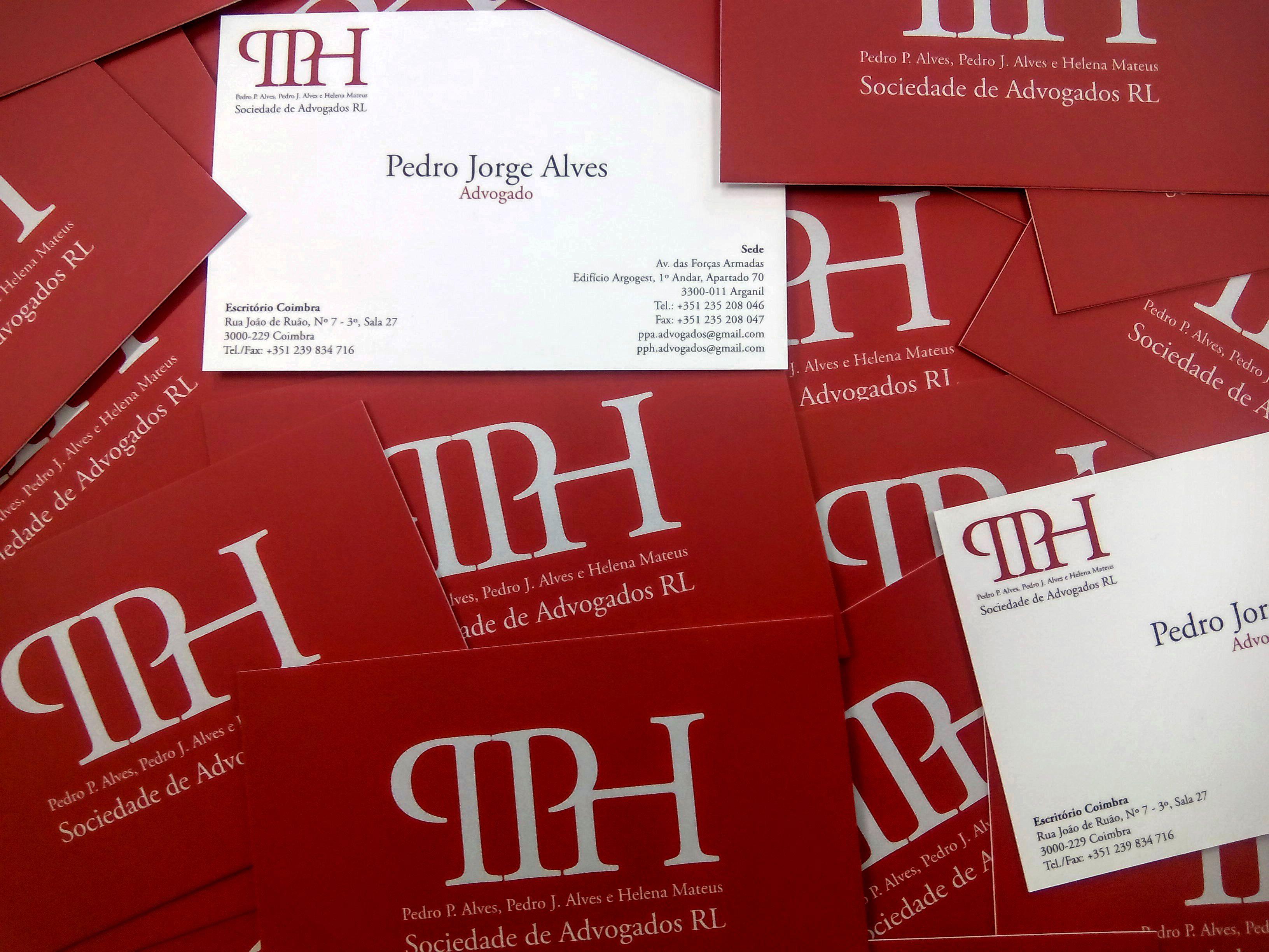 Desenvolvimento de Identidade Corporativa para a Sociedade de Advogados PPH.