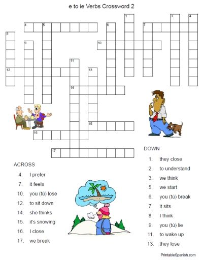 FREE printable Spanish adjectives crossword puzzle and answer key ...
