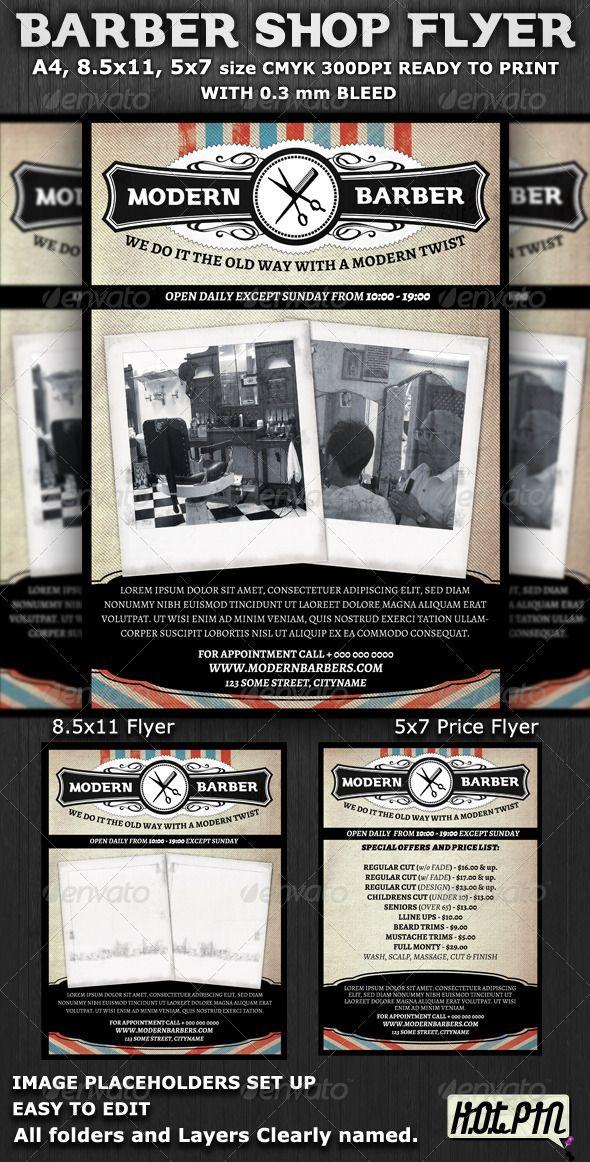 Barber Shop Flyer Template Flyer template, Barber shop and Template - retro flyer template