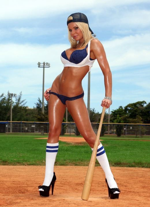 Naked girls playing softball