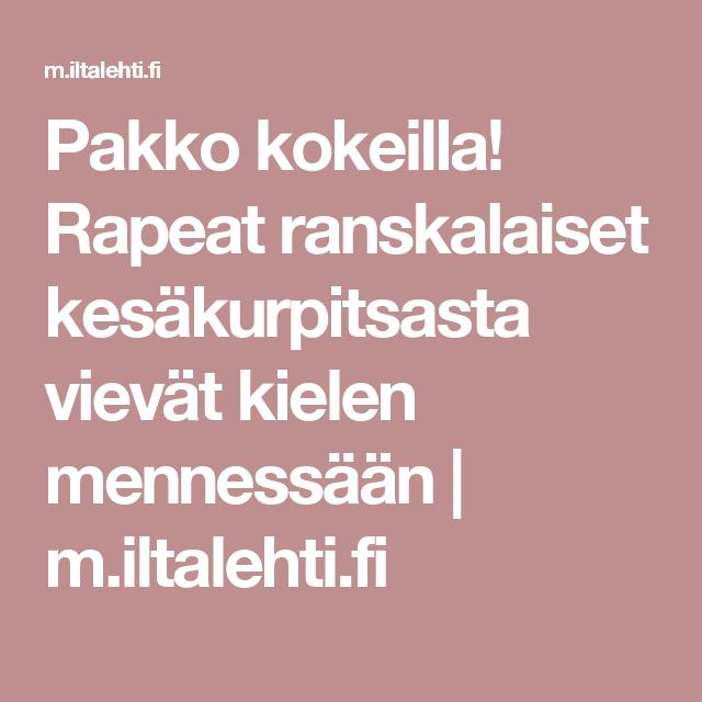 Pakko kokeilla! Rapeat ranskalaiset kesäkurpitsasta vievät kielen mennessään   m.iltalehti.fi