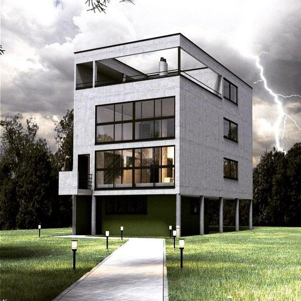 Casa citroh n le corbusier 1922 arquitectura de - Casas de le corbusier ...