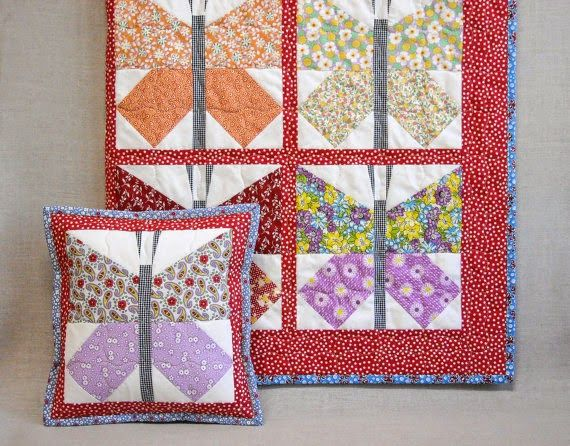 Baby Butterfly Quilt - Feed Sack Quilt
