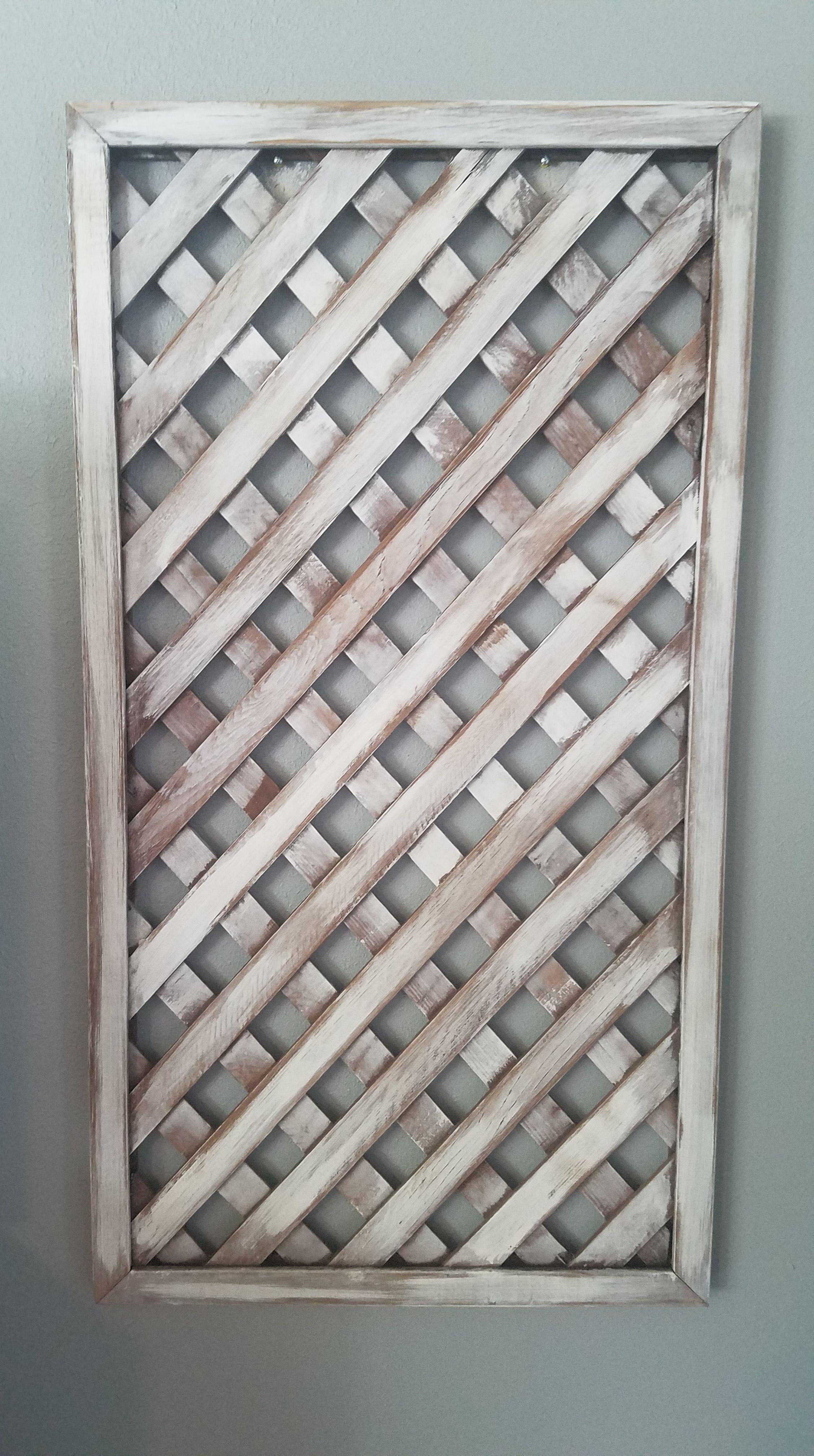 Salvaged Lattice Panels Lattice Wall Wooden Wall Decor Dyi Wall Decor