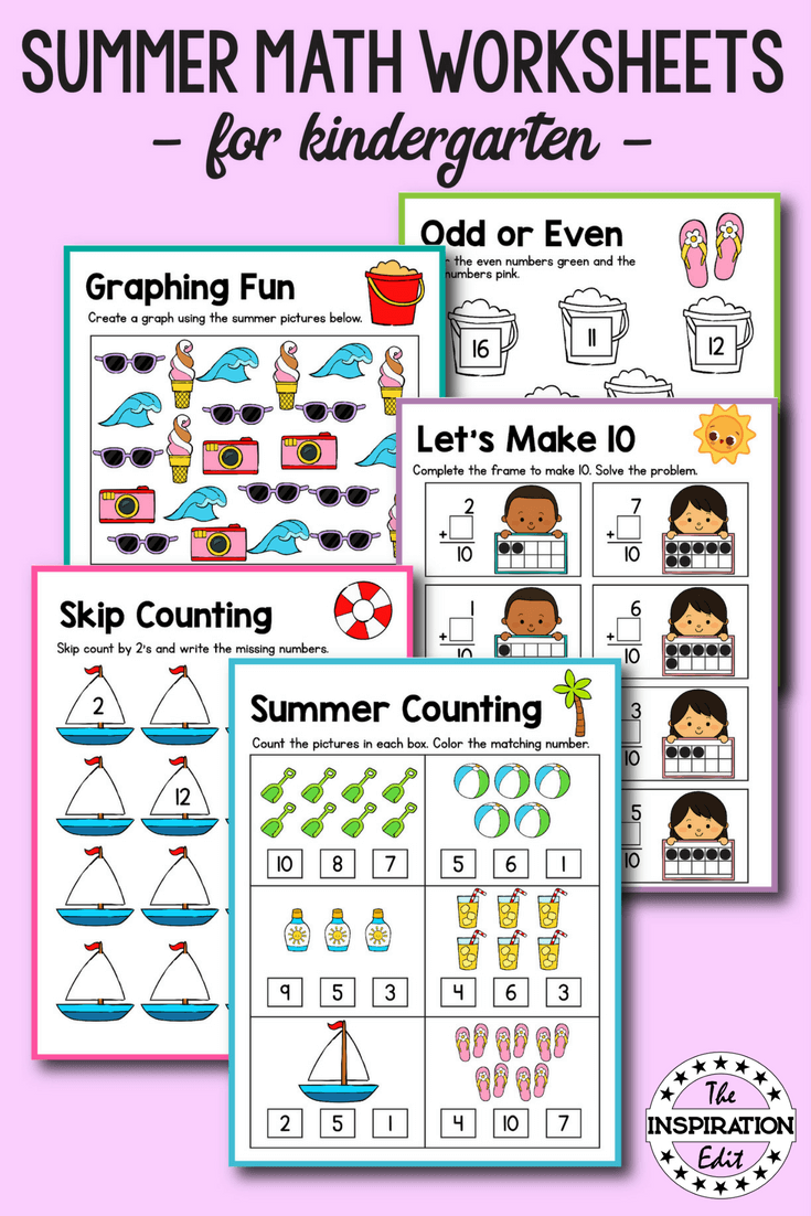 Summer Counting Printable For Kids Summer Preschool Activities Preschool Activities Summer Math Worksheets [ 1102 x 735 Pixel ]