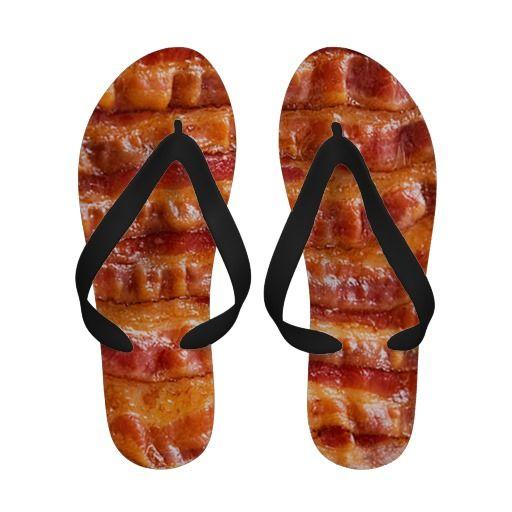 65a93b6a0ed2a Bacon Flip Flops   Quality Flip-Flops from Zazzle   Flip Flops ...