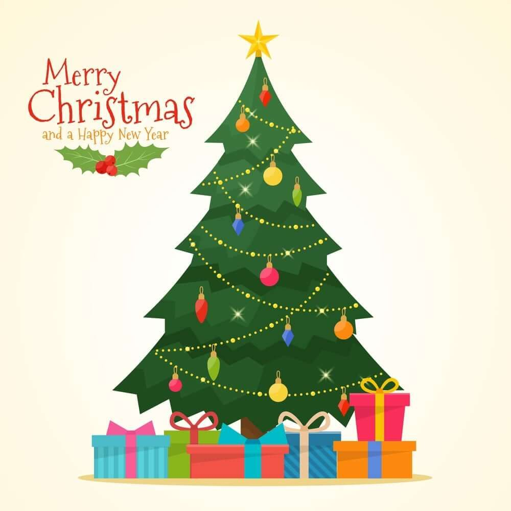Christmas Tree Photos With Decorations Christmas Tree Decorations Christmas Tree With Gifts Cartoon Christmas Tree