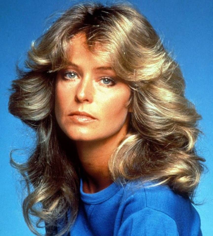 farrah fawcett always sported feathered hair, the hairstyle of the