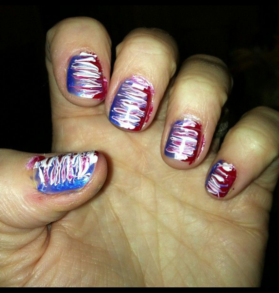 Nail Art Blue And Red: Red White And Blue Nails