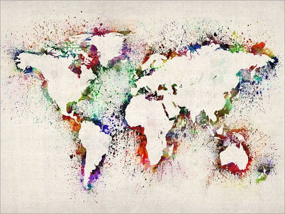 Map of the world map abstract painting art print 778 by artpause map of the world map abstract painting art print 778 by artpause gumiabroncs Gallery