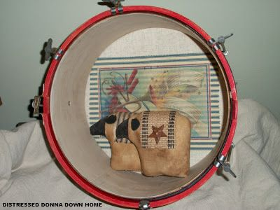 Distressed Donna Down Home: Patriotic Drum