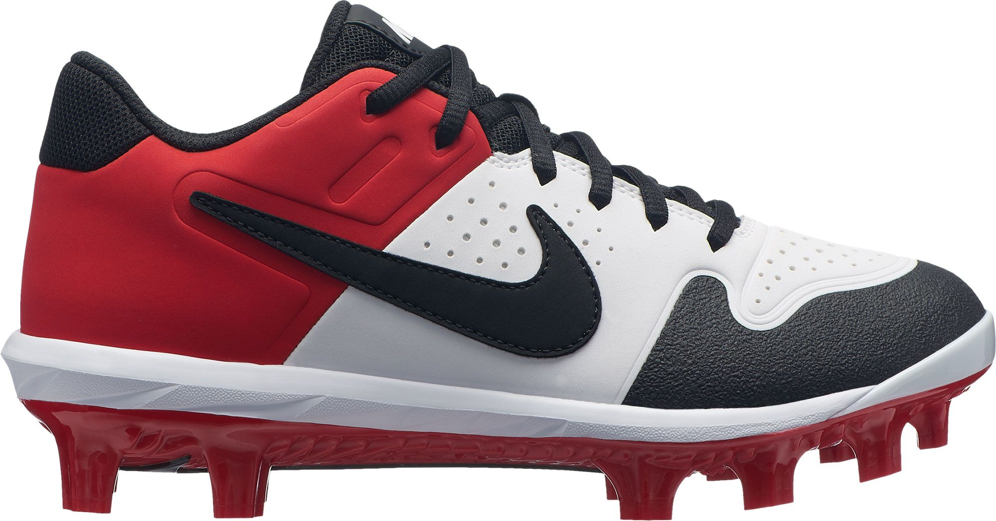 the latest 3b064 71b99 Nike Kids  Alpha Huarache Varsity Baseball Cleats, Size  1.0, White