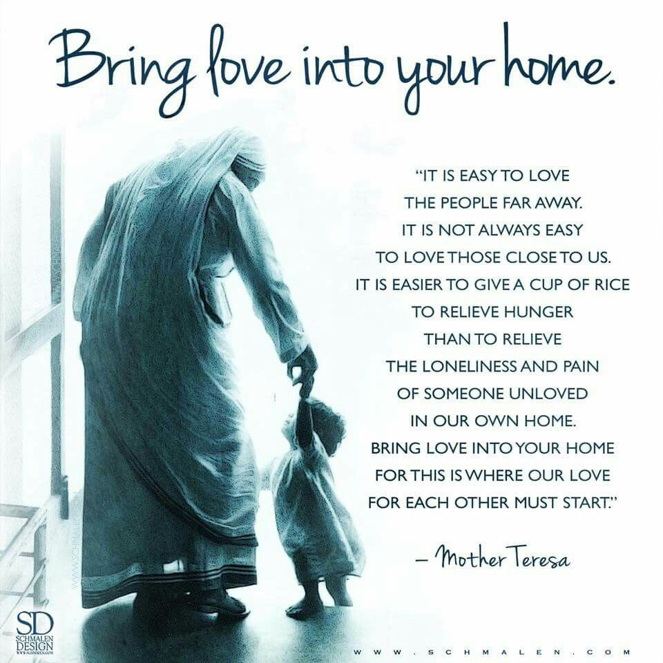 Catholic Quotes On Love Bring Love Into Your Home Spiritual Healthguidance  Pinterest