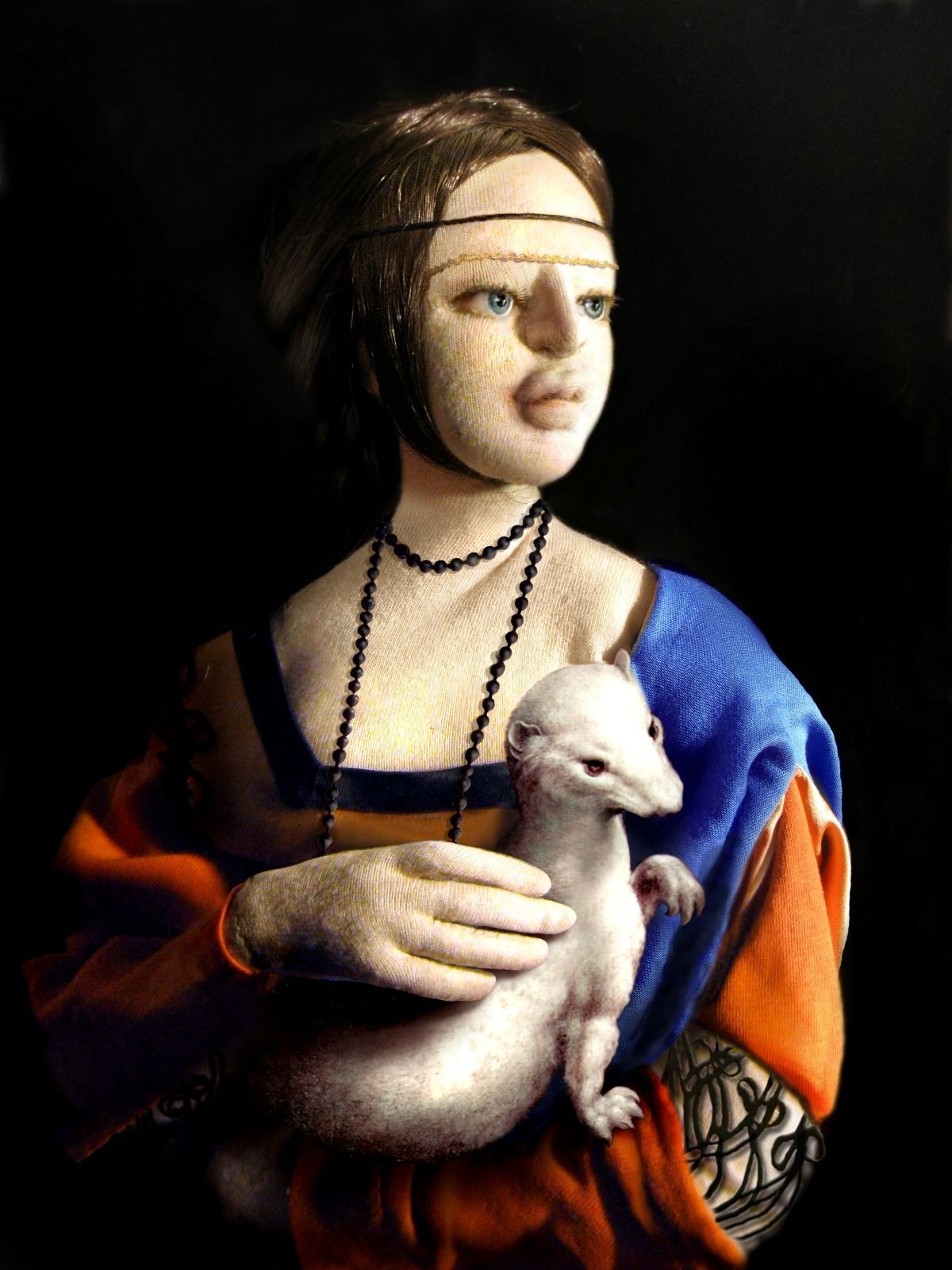 the lady with an ermine A scientist has revealed a new discovery about the leonardo da vinci painting lady with an ermine (alik keplicz / associated press.