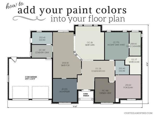 Floor Plan Color Scheme House Color Schemes Paint Colors For
