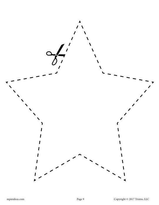 Pin On Christmas Preschool shape cutting worksheets