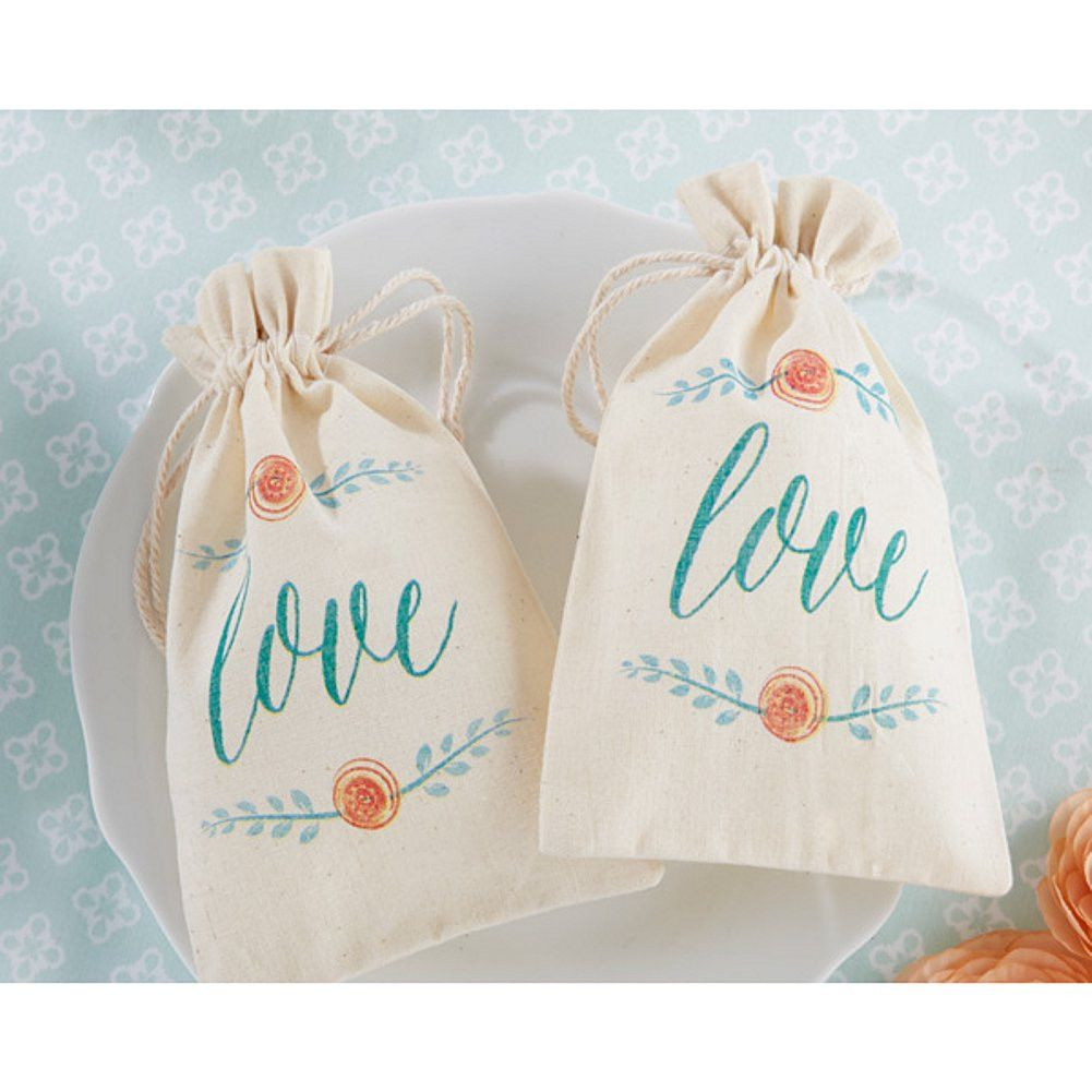 In Bloom Botanical Muslin Favor Bags   Wedding   Pinterest   Favor ...
