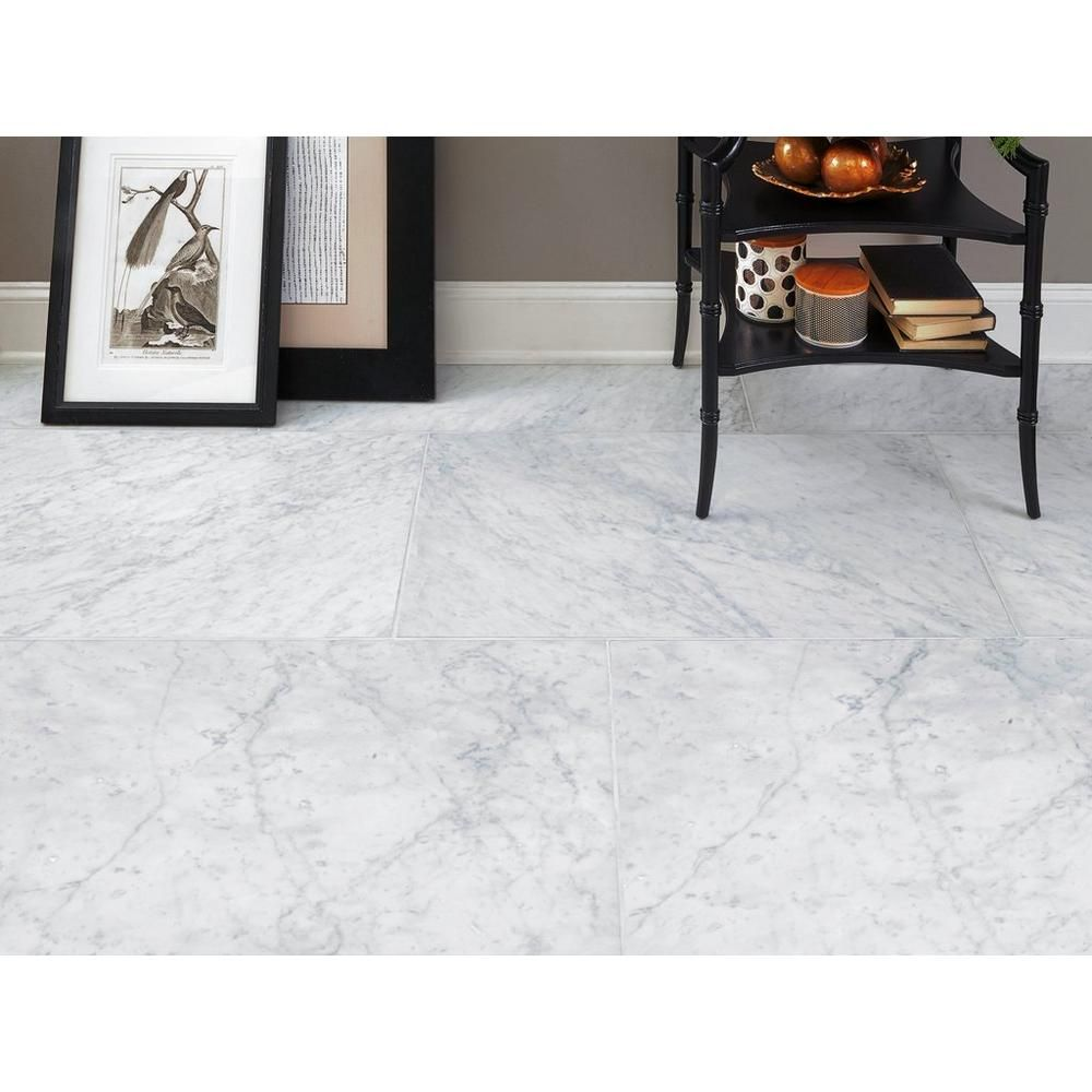 Bianco Carrara Honed Marble Tile In 2020 Honed Marble Tiles Honed Marble Bianco Carrara