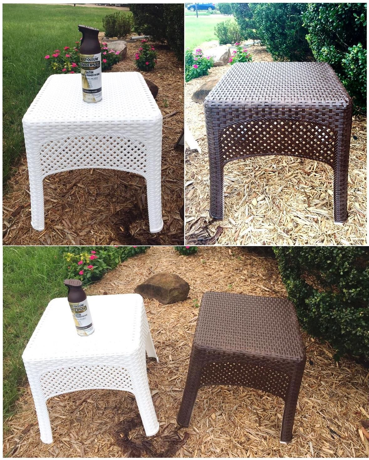 All Surface Satin Espresso Brown Spray Paint And Primer In One Transform Plastic Furnitur Painting Wicker Furniture Resin Wicker Furniture Spray Paint Wicker