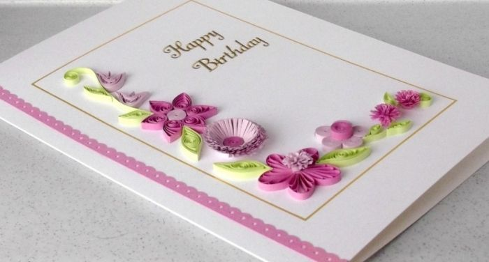Top 10 handmade greeting cards quilling and quilling flowers 2 paper quilled birthday card m4hsunfo