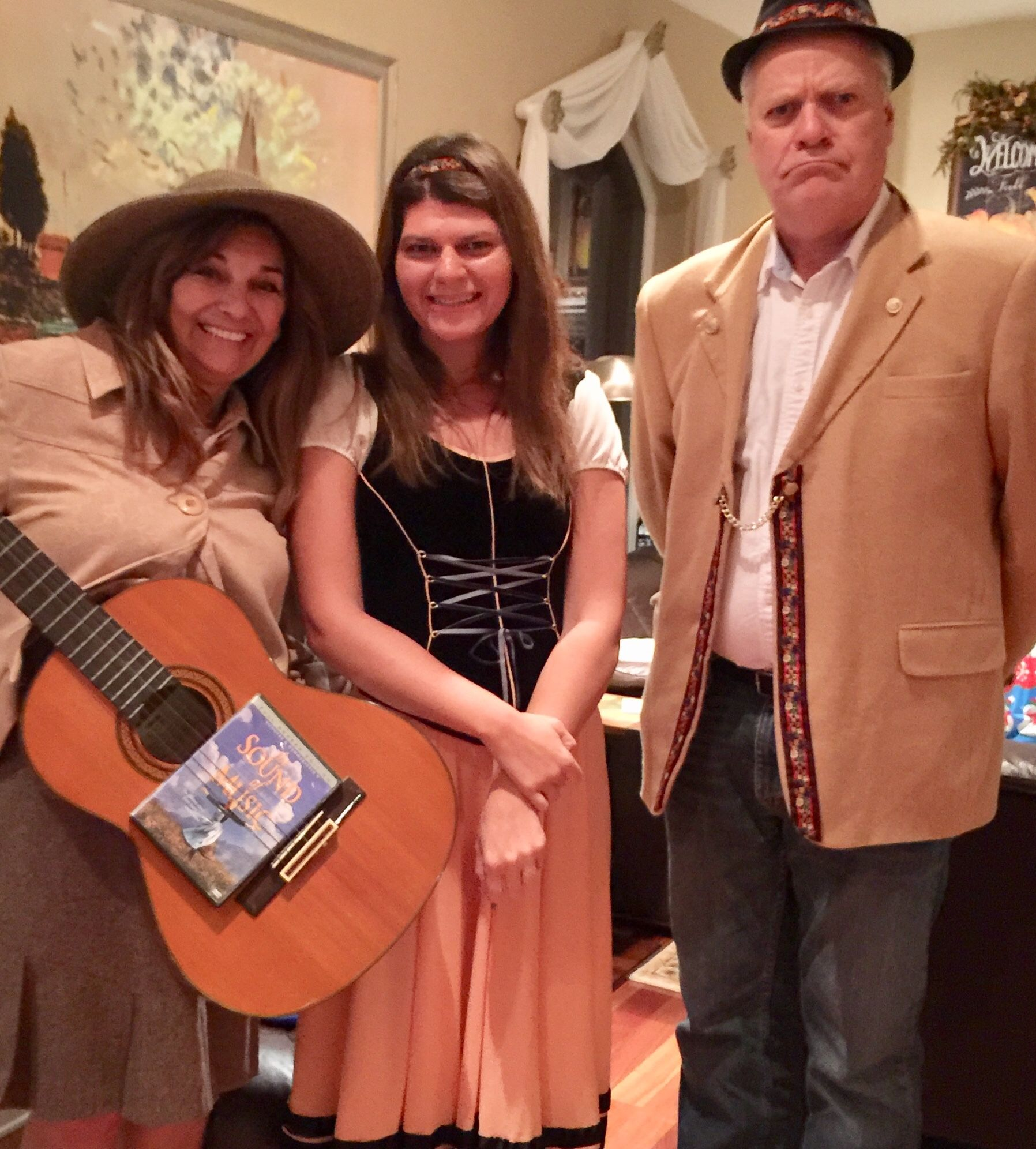The Von Trapps Maria, Lisel and the captain costumes