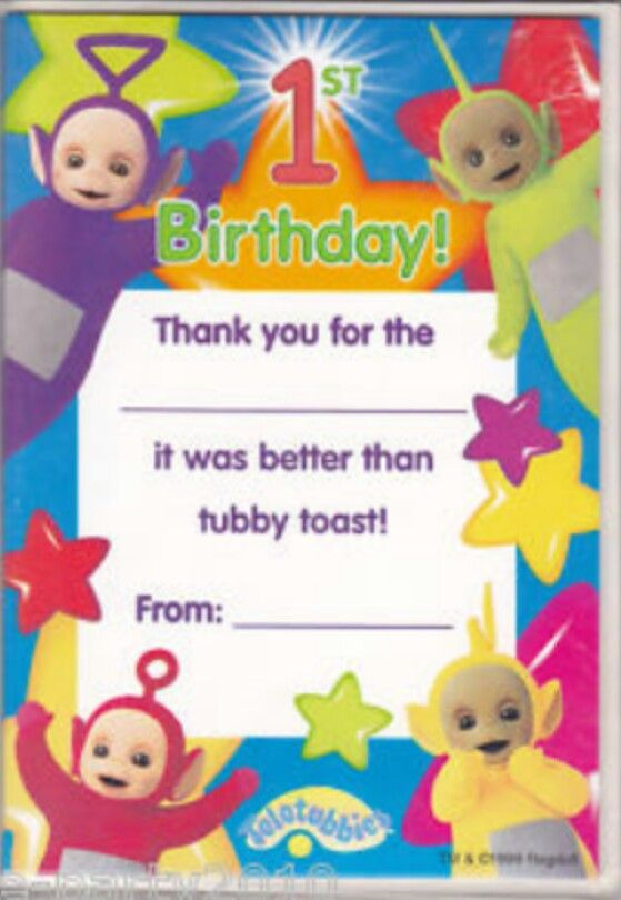 Thank You Cards Teletubbies Themed Party Pinterest Themed Parties