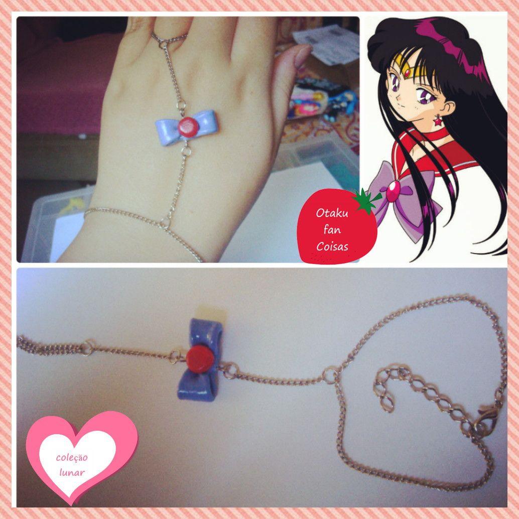 ~ Coleção Lunar ~ <br> <br>Pulseira de Mão da Sailor Mars. Apenas 1 unidade disponível!!