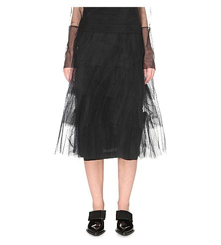 SIMONE ROCHA Layered Tulle Skirt. #simonerocha #cloth #skirts