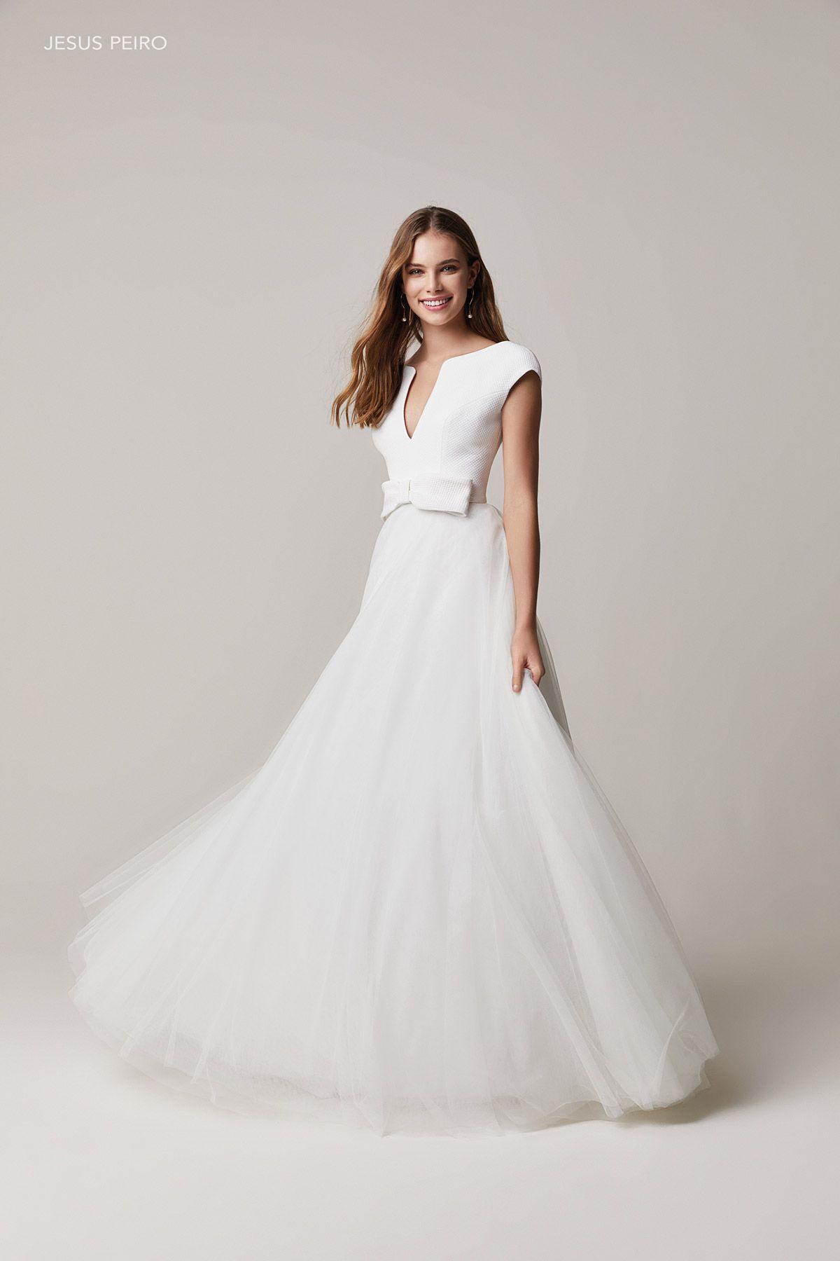 Jesus Peiro Amalia Collection 2021 Wedding Dresses Dresses New Wedding Dresses [ 1800 x 1200 Pixel ]