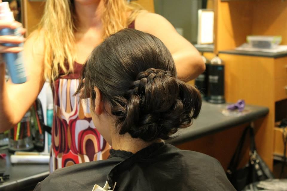 Braided bun Bellezza Salon Omaha