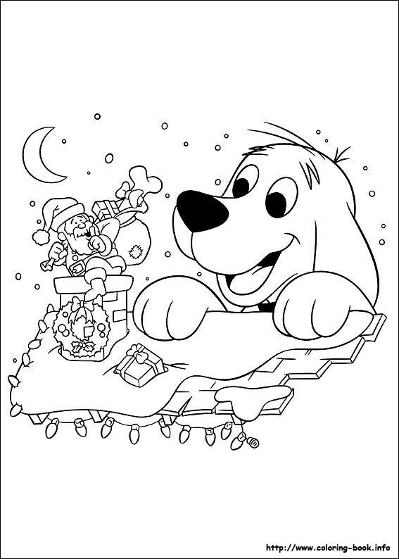 Clifford S Christmas Coloring Picture