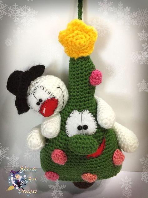 Snowy und Woody - Türhänger   crochet   Pinterest   Häkeln, Tiere ...
