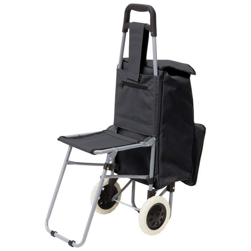 Amazing 2 Compartment Trolley Bag With Folding Chair Maxam Hot Pdpeps Interior Chair Design Pdpepsorg