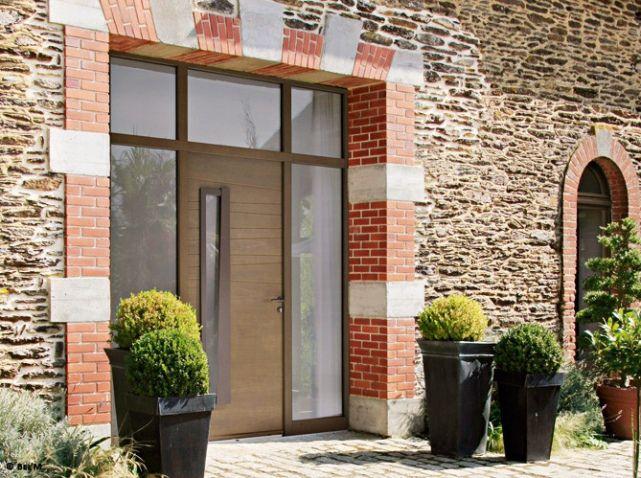 Porte grange brique Porte du0027entree Pinterest - decoration portes d interieur
