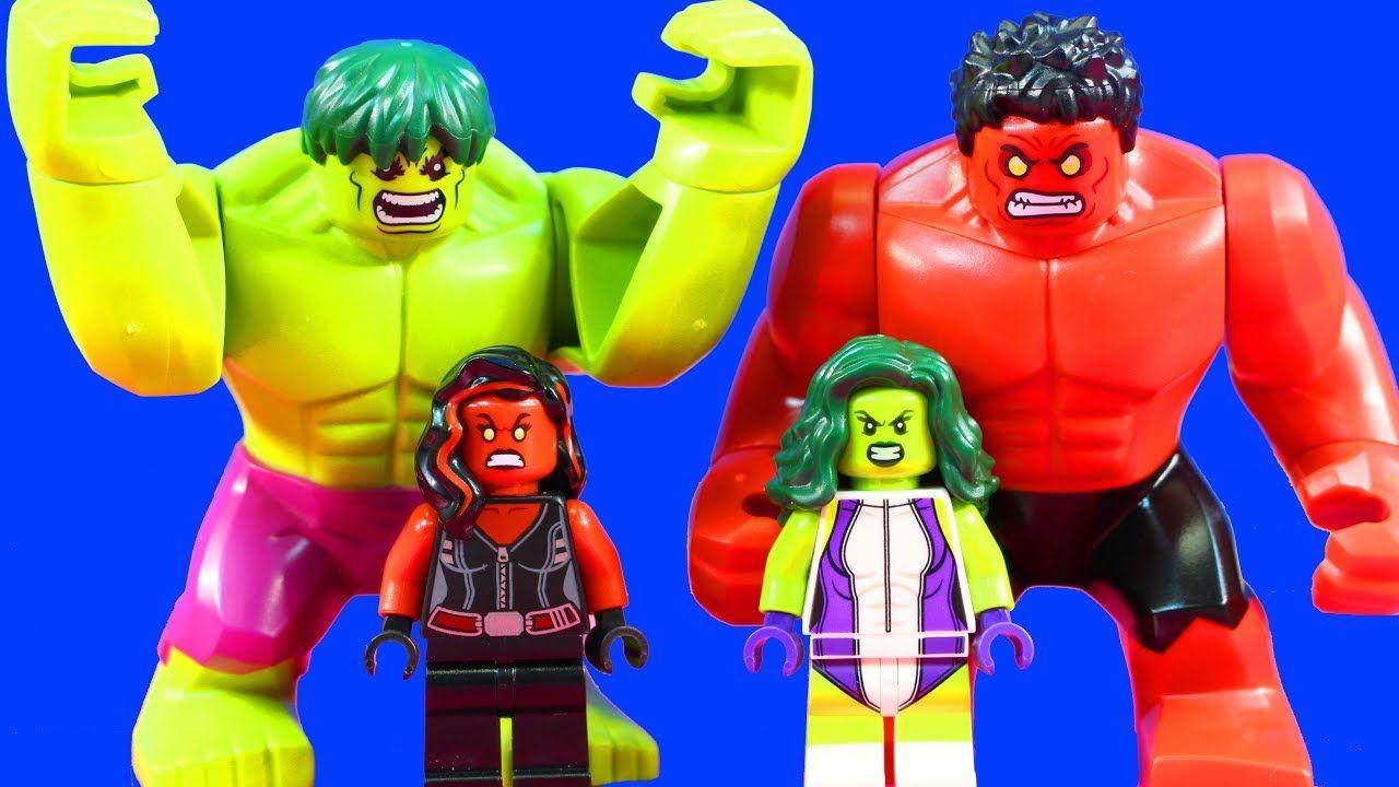 Lego Marvel Super Heroes Hulk She Hulk Battle Red She Hulk In Lego Hulk Smash Youtube Lego Hulk Lego Marvel Super Heroes Lego Marvel