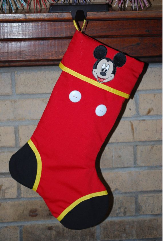 mickey mouse christmas stocking ready to by creationsonthebayou 2500 - Mickey Mouse Christmas Stocking