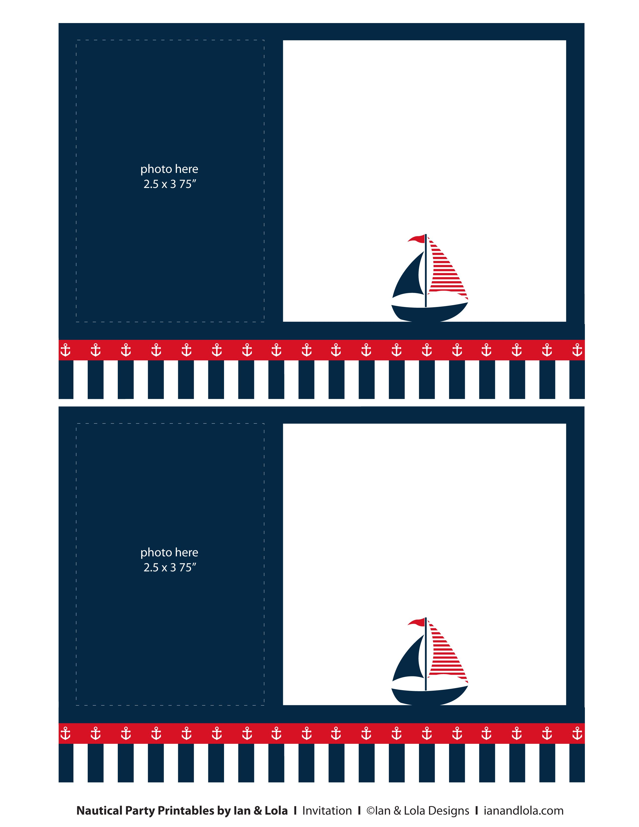 Free Nautical Party Printables from Ian Lola Designs Nautical