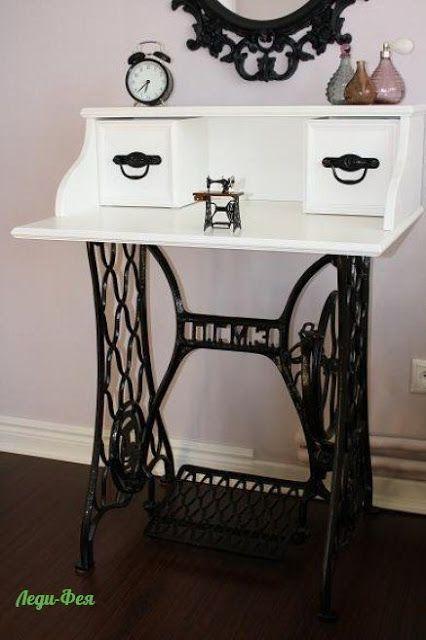 Vintage , hermosos muebles con pies de máquina Singer - Plaza Digital -