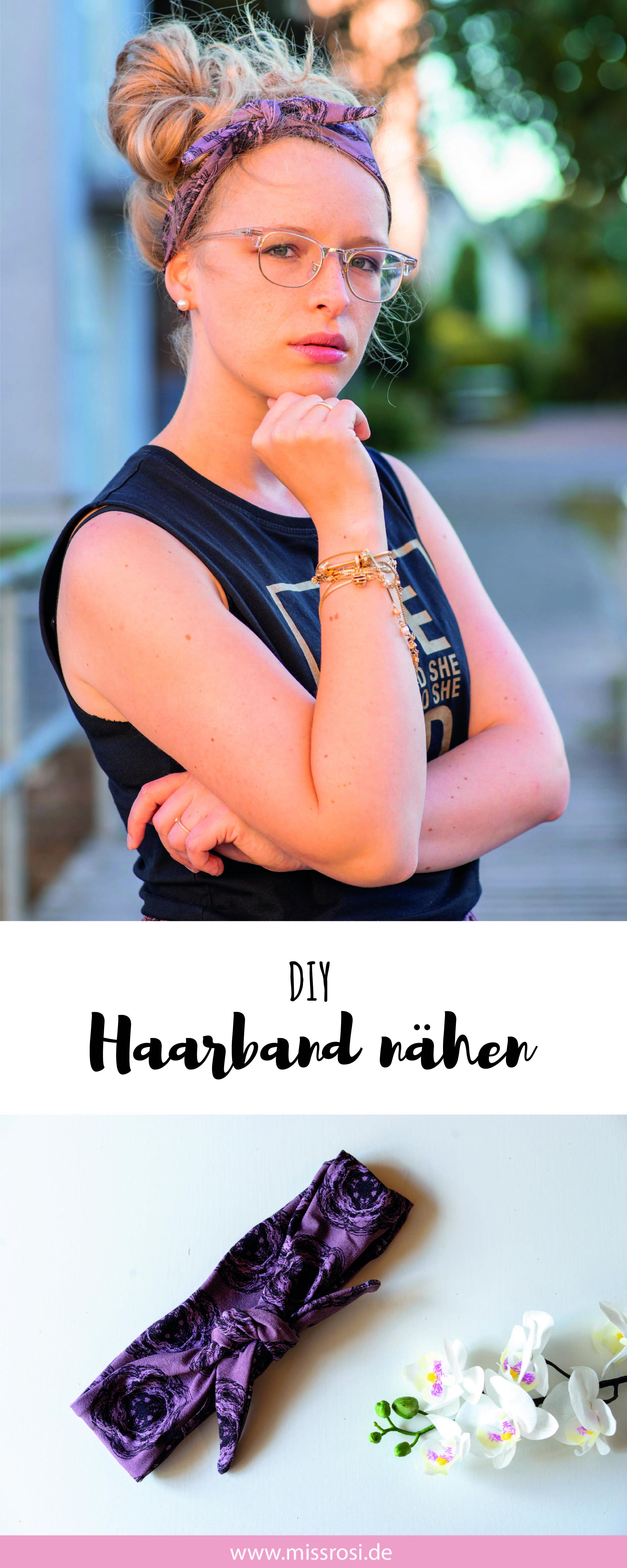 Haarband nähen, einfache Anleitung für Anfänger #diyhairstyles