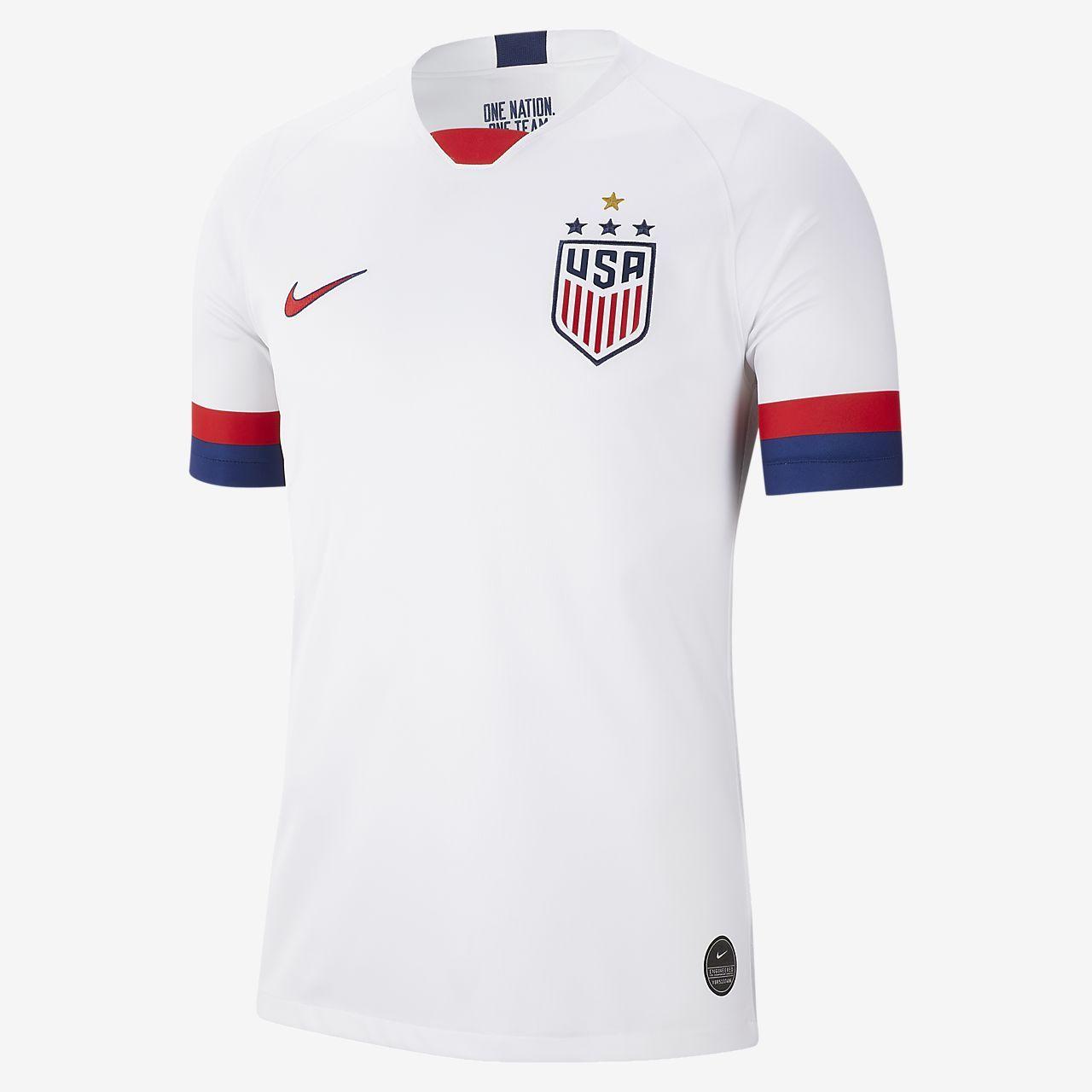 Nike Men S Soccer U S 2019 Stadium Home 4 Star Shirt In 2020 Soccer Jersey Mens Soccer Usa National Team