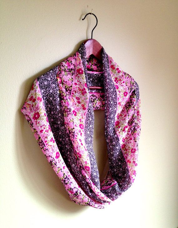 Short printed scarf / cowl / neck warmer by DesiLoop on Etsy, $30.00