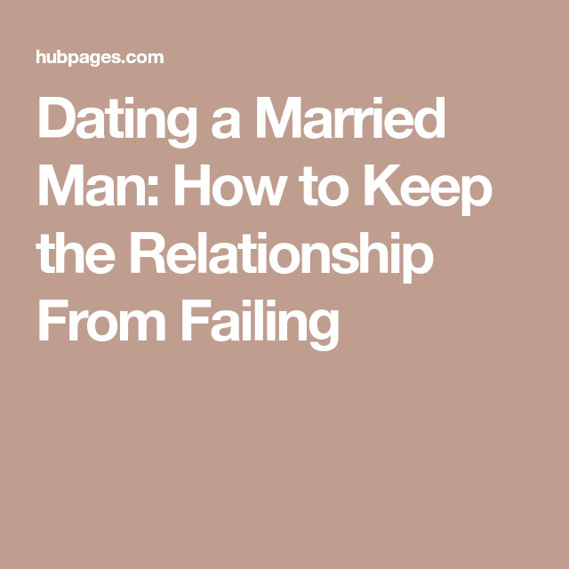 how to stop dating a married man