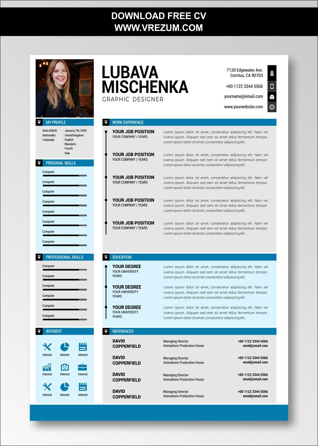 (EDITABLE) FREE CV Templates For Graduate Students in