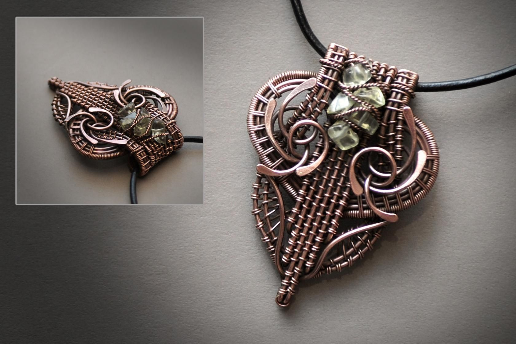 46) Одноклассники copper wire wrapped pendant advanced wire wrapping ...