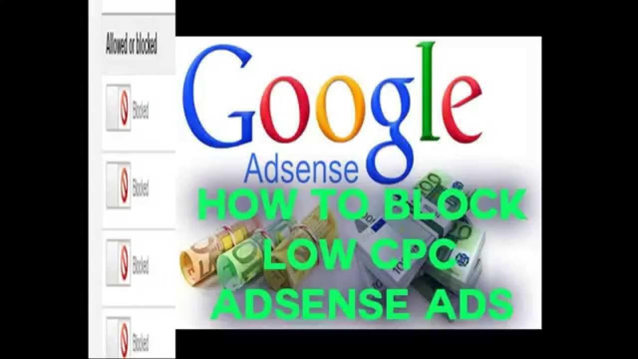 Adsense low cpc ads block new tricks 100 working ad