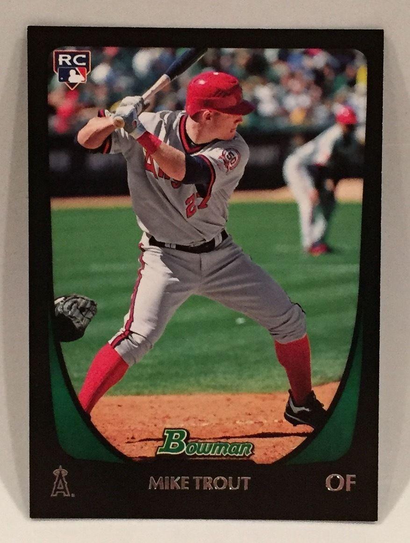 2011 bowman draft baseball mike trout rookie card 101