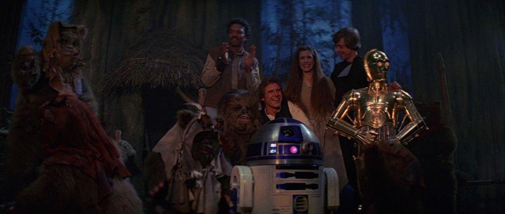 Resultado de imagem para star wars episode 6 final scene