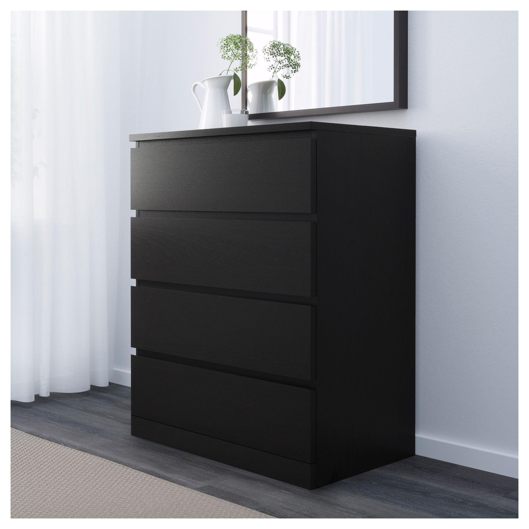 Malm 4 drawer chest black brown home pinterest for Muebles de habitacion ikea