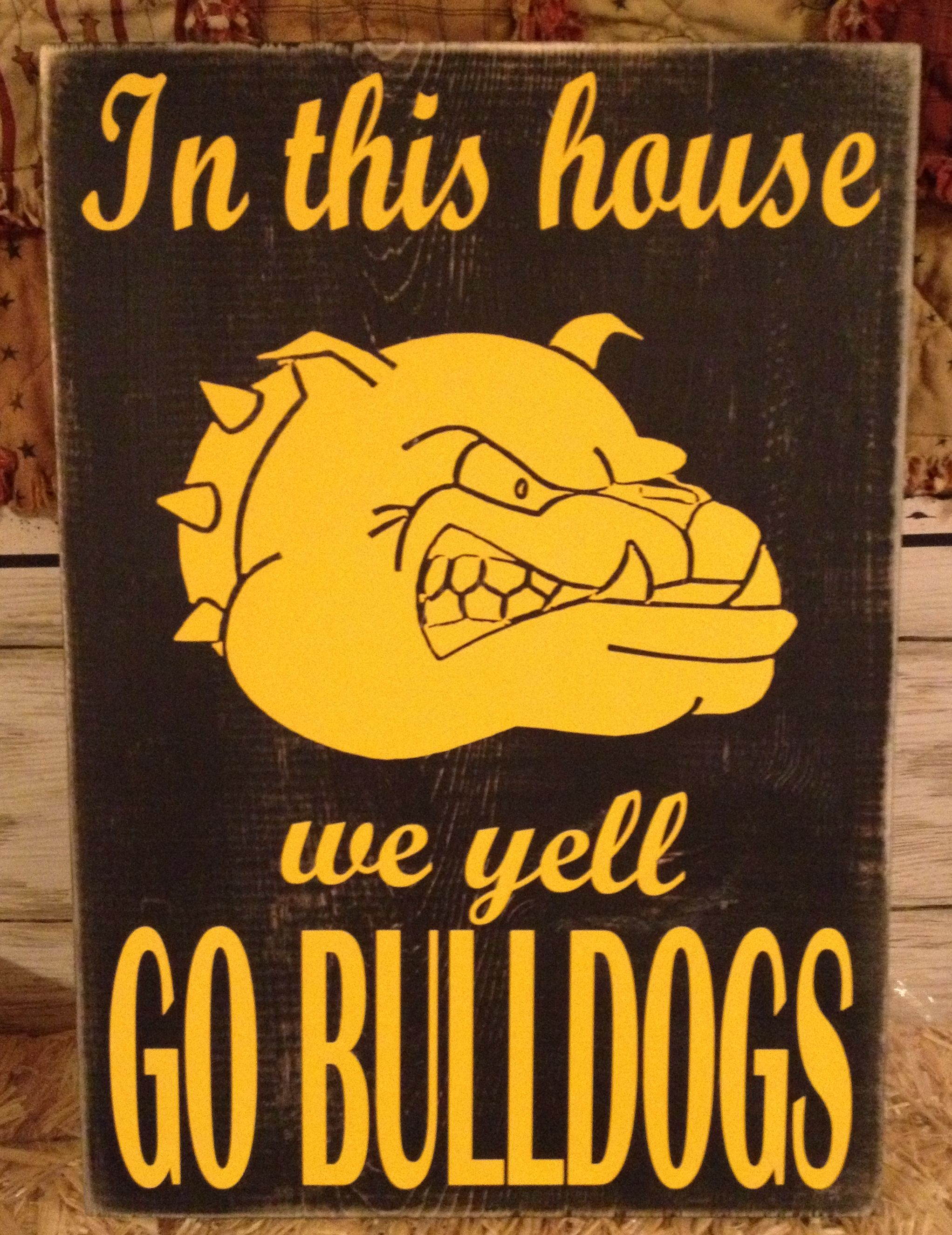 Custom School Spirit Sign Dugger Bulldogs Spirit Signs School